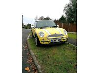 Yellow Mini Cooper 1.6L Manual