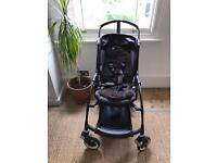 Bugaboo Bee Plus buggy 2013 all-black plus cocoon, rain cover and sheepskin