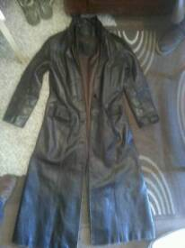 carnaby leather trench coat