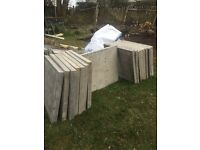 52 BRAND NEW PAVING SLABS (2 TONNE RIVER SAND (FREE) IF WANTED)
