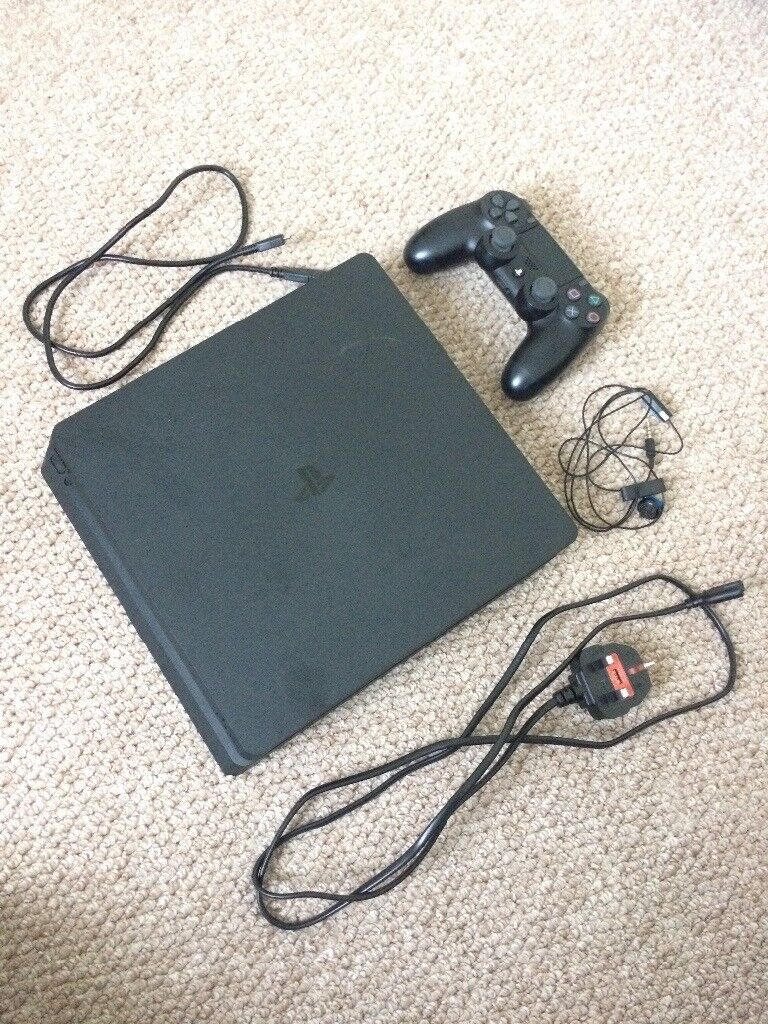 Playstation 4 slim with controller