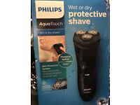 Phillips aqua touch shaver new