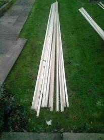Timber laths 30mm x 22mm x 5.1m long planed on three sides, very straight