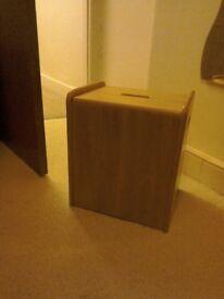 Solid wood storage box/seat