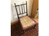 Chair - wooden frame - needs cushion