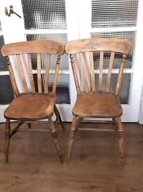 VICTORIAN PINE CHAIRS FREE DELIVERY LDN🇬🇧no TABLE
