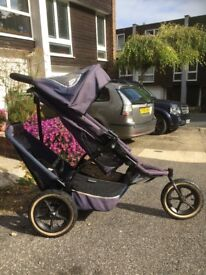 Phil & Ted double pram with cocoon