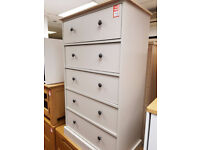 Kensington 5 drawer chest - two tone