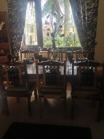 Solid wood table and 6 chairs excellent condition £290 ono