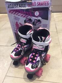 Quad skates adjustable size 1-3 hardly worn