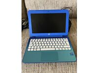 HP 11.6 inch blue laptop hardly used.