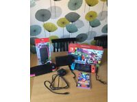 Nintendo Switch with games & case