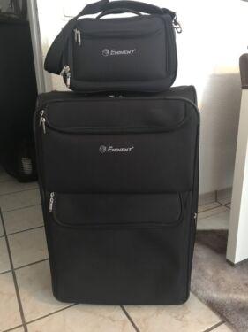 Verrassend Eminent Koffer Trolley mit Beautycase Bordkoffer schwarz in VA-76