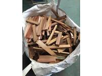 Hardwood waste ton bag - Iroko, Meranti, some Oak, Sapele and Beech