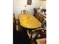 Ducal Pine Dining Table With 6 Chairs