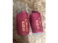2 X outbound single sleeping bags. Used only once.