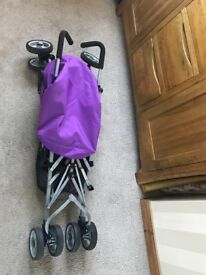 Dimples pink/purple stroller