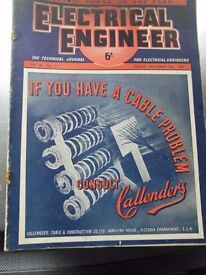electrical engineer weekly vintage collectable magazines