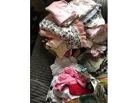 3-6 month girls clothes some unworn. Can send photos.