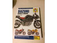 SUZUKI SV650/650S WORKSHOP MANUAL