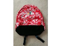 Un-used Superdry Red Floral Backpack