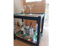 Beautiful upcycled drinks table