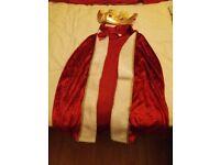 Kings robe kids costume