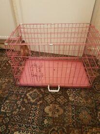 Pink pet crate medium size no longer needed
