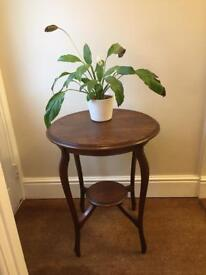 Antique oak occasional/side table