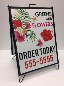 "24"" x 32"" A Frame/Sandwich Board Sign .. Magnetic! Includes 302 pc x 3.5"" characters or 2 sets of full colour prints !!"