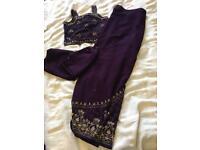 Purple lengha