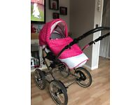 Beautiful girls big wheel travel system excellent condition
