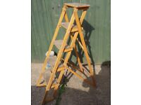 Vintage Post office GPO wooden Step Ladders