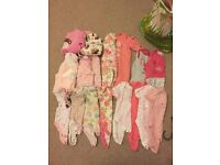 3-6 months bundle of vests, sleepsuits and Pjamas