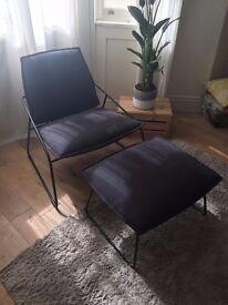Lounge chair and footstool - IKEA VILLSTAD