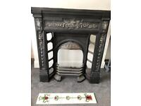 2 No. Refurbished Victorian Cast Iron Combination Fireplace