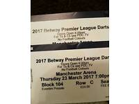 Premier league darts tickets for Manchester Arena