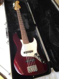 2006 Fender Jazz Bass 5 String MIM & Hardcase - CAN DELIVER