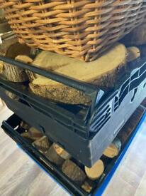 Job lot of log slices for table centres and place cards