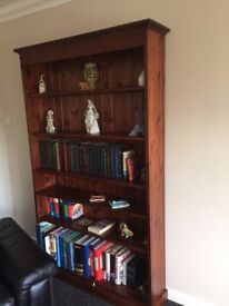 Pine (Mahogany stained) Bookcase