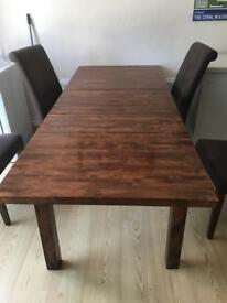 Extended dining room table