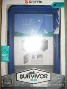 """Griffin Survivor Samsung Galaxy Tab E. 9.6"""" Tablet Cover / Case. ShockProof. Water Proof. Screen Protector. 3 Layered"""