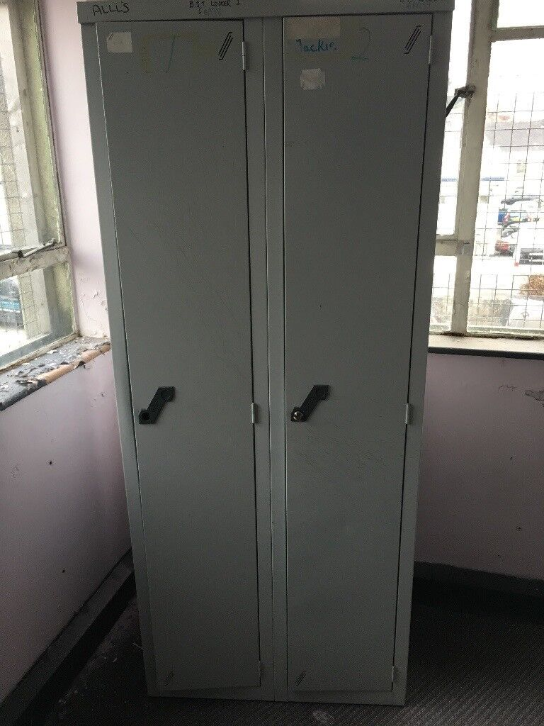Two clothing lockers