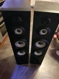Floor standing Sony speakers