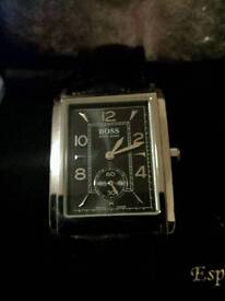 Hugo Boss leather strap watch