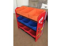 Disney cars storage unit. Matching bedside table also for sale.