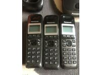 Panasonic KX-TG2511E triple Digital Cordless Home Landline Phone Set
