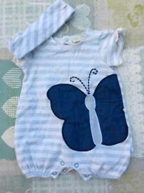 3 x baby girl outfits 0-3months