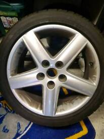 Audi A4 alloy wheels with as new Landsail tyres 17inch x 4