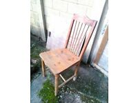 single vintage pine chair ideal upcycle etc